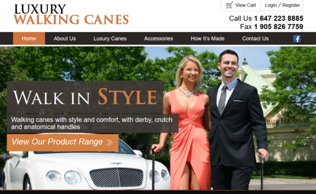 Luxury walking canes