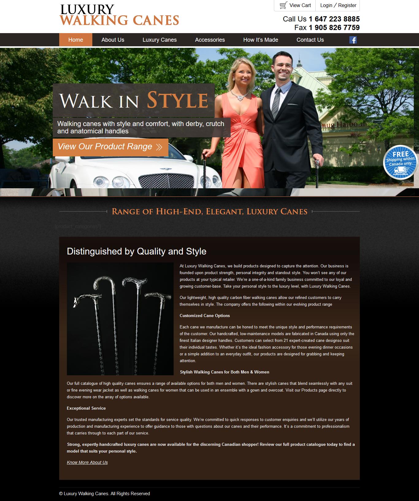 Luxury walking canes